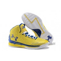 """Hot Now Under Armour UA Curry One """"Playoff"""" PE Yellow/Royal Blue Shoes For Sale"""