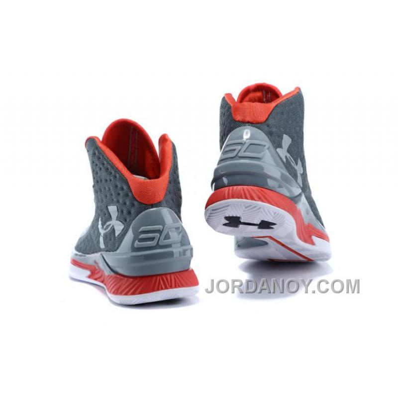 "factory authentic 887ce cb83b ... Christmas Deals Under Armour UA Curry One ""Underdog"" Grey Red Shoes For  Sale"