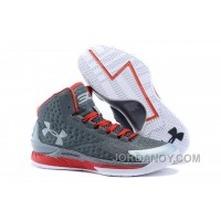 Discount Under Armour UA Curry One (1) Underdog Grey Red