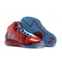 Christmas Deals Under Armour UA Curry One (1) PE Red Blue On Sale
