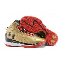 Free Shipping Under Armour UA Curry One (1) Gold Black Red