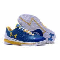 Online Womens Under Armour Curry One Low Royal Blue Yellow White