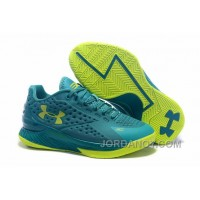 For Sale Womens Under Armour Curry One Low Green Volt