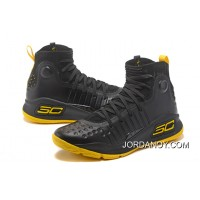 Under Armour Curry 4 Basketball Shoes Black Yellow Super Deals