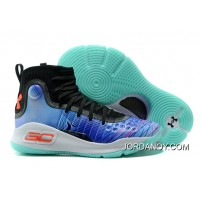 Under Armour Curry 4 Basketball Shoes Black Blue White Green Cheap To Buy