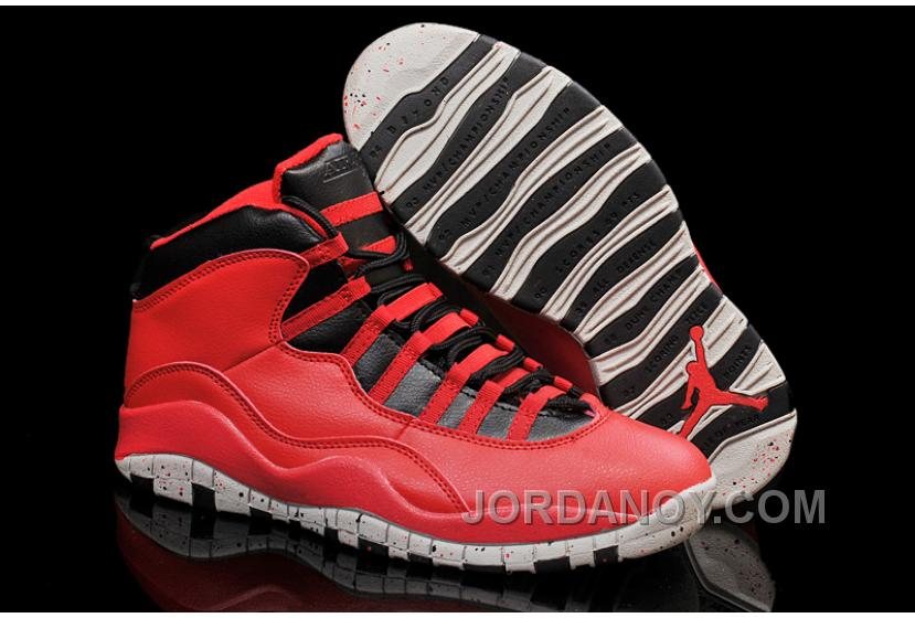"""newest 002a2 56d6a Free Shipping Air Jordans 10 """"Gym Red"""" Gym Red/Black-Wolf Grey Shoes For  Sale"""