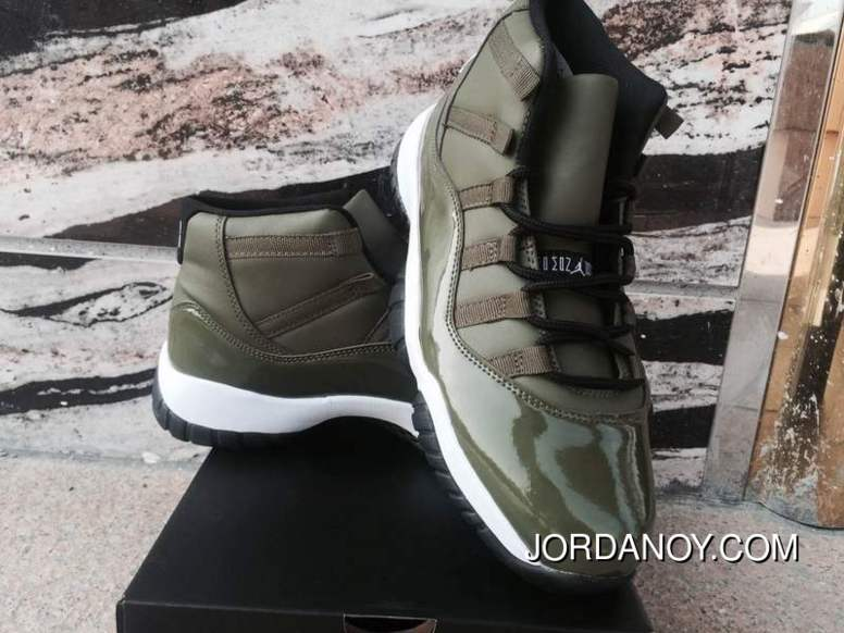 Air Jordan 11 Olive Green New Style