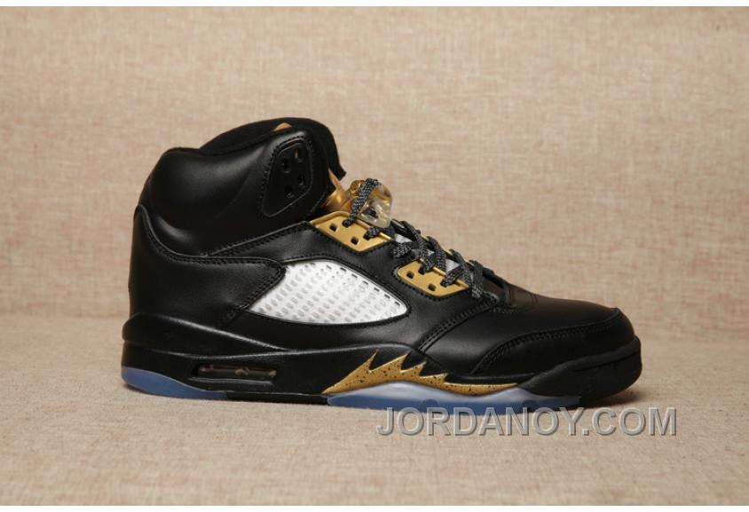 on sale fa1b2 86876 Top Deals 2017 Air Jordan 5 Black Olympic Gold Medal For Sale