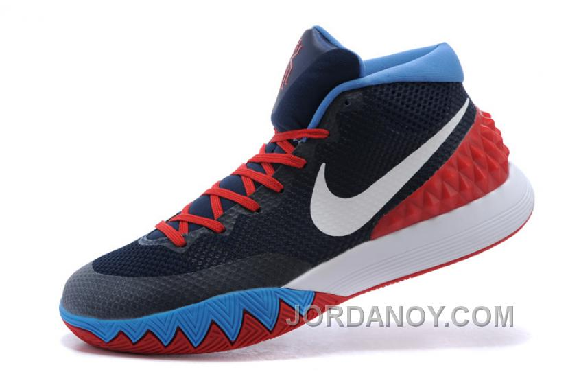 more photos eefd2 8ca0a Nike Kyrie Irving 1 Navy Blue Red-White Online Cheap Sale Discount