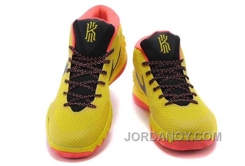 8b0ca75060d3 For Sale Nike Kyrie Irving 1 PE Yellow-Black Bright Crimson Cheap Online
