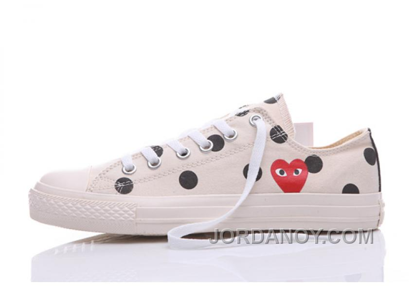 fcaa24f8da7c White CONVERSE Comme Des Garcons Polka Dot Play Chuck Taylor Low For Sale  M2NZ74D