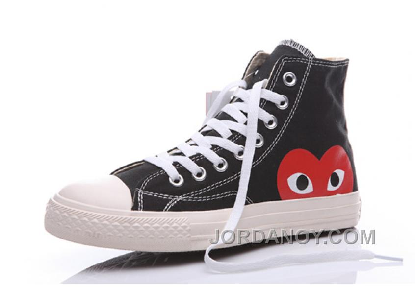 8e89ad802bf59d Cheap To Buy Black CONVERSE Comme Des Garcons Play Chuck Taylor Hi Sneakers  2JnEyP