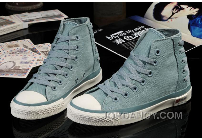Ultimate Edition Light Blue CONVERSE Comme Des Garcons Play Chuck Tayloar All Star High Tops Canvas Sneakers Lastest NFKMDXn