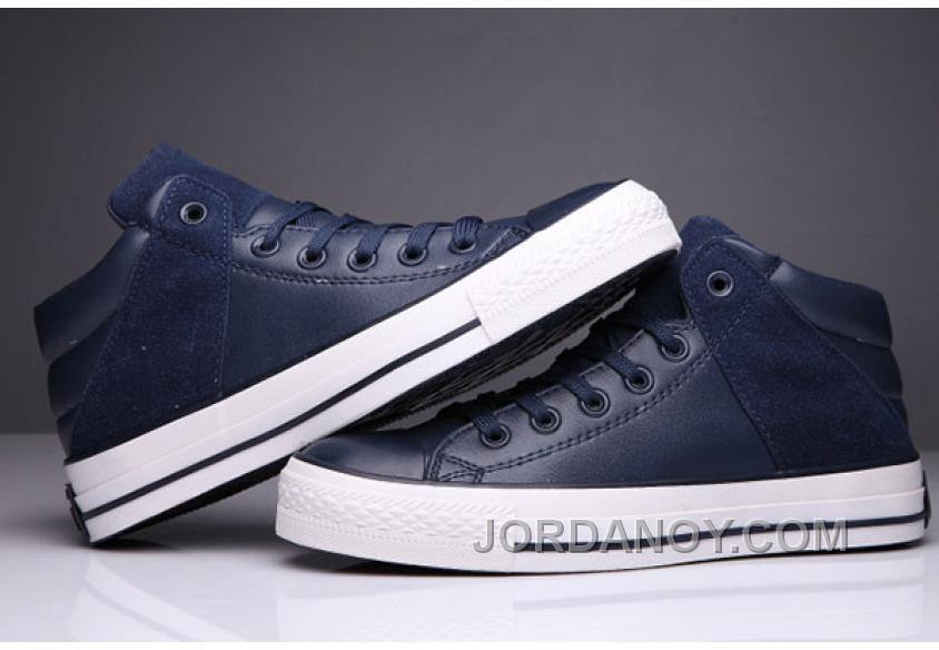 8bd855c0d163 Blue CONVERSE Padded Collar All Star High Leather Terminator Genisys Chuck  Taylor Authentic JJaj6s