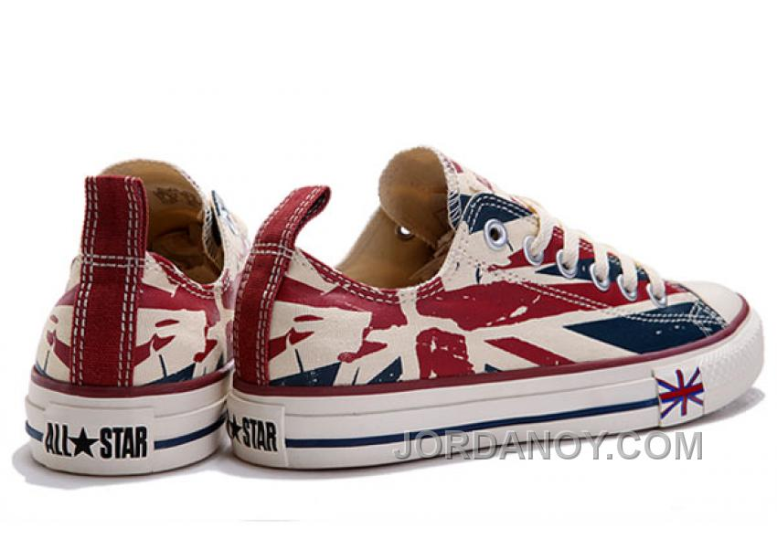 543b65f5003f Blue CONVERSE British Flag Print All Star Beige Red Canvas London Shoes  Discount ZWddhR
