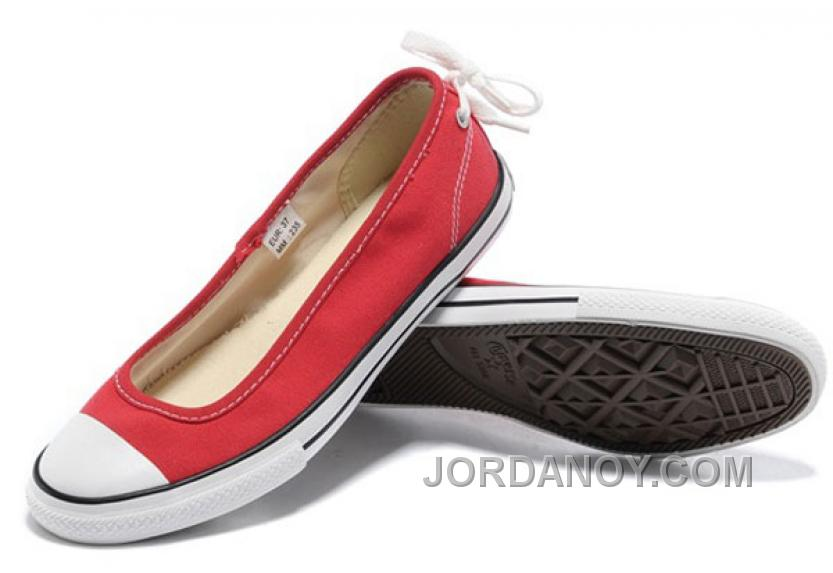 2017 Red Converse All Star Light Collection Estate Ballerine