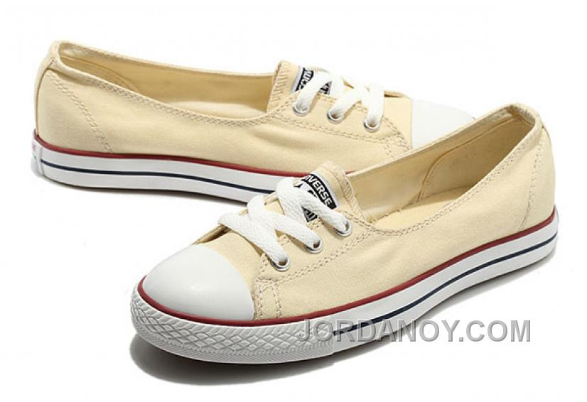 7ae36c794f74 CONVERSE Chuck Taylor Off White Ballet Flats Dainty Ballerina All Star  Summer Traning Sneakers Ladies Women