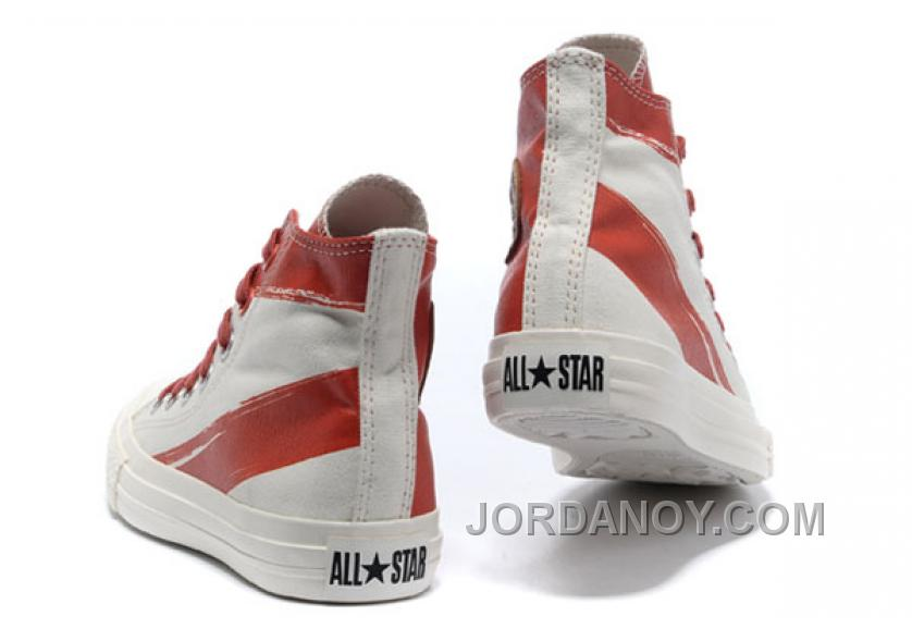 1f99e3436188 CONVERSE Girls Red White Painted Shoes Women Authentic WCbK7M