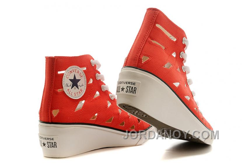 ba9849c9d4c8 Red CONVERSE All Star Women Mermaid Wedge Heel Chuck Taylor Sandals  Christmas Deals ATZzt