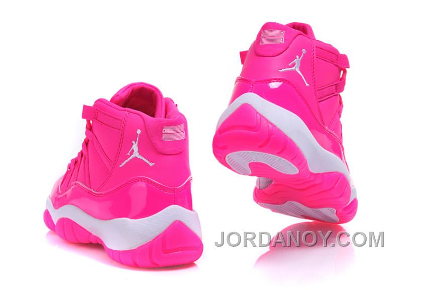"2017 Air Jordan 11 GS ""Pink Everything"" Pink White Shoes Discount ..."