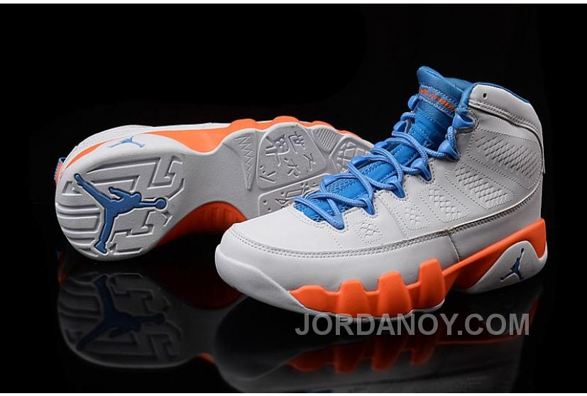 "purchase cheap da9a6 5b5de For Sale Girls Air Jordan 9 ""Fontay Montana"" White Blue Orange"