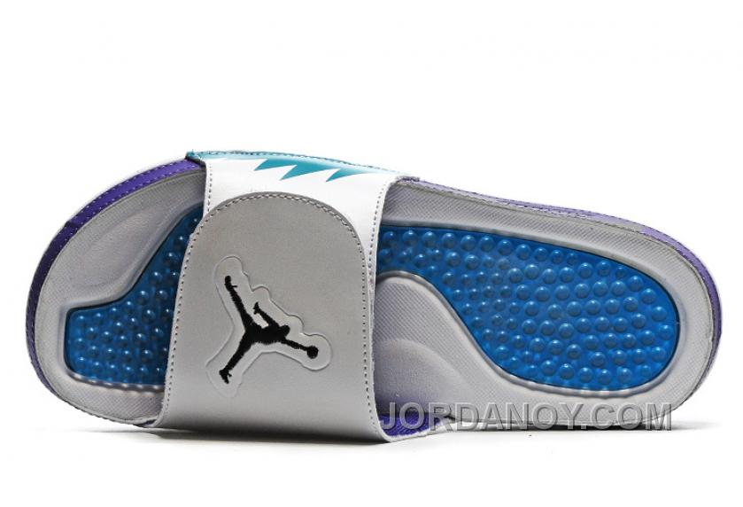 online store ce5ac 34f16 Christmas Deals 2016 Air Jordan Hydro 5 White Blue Purple Slide Sandals