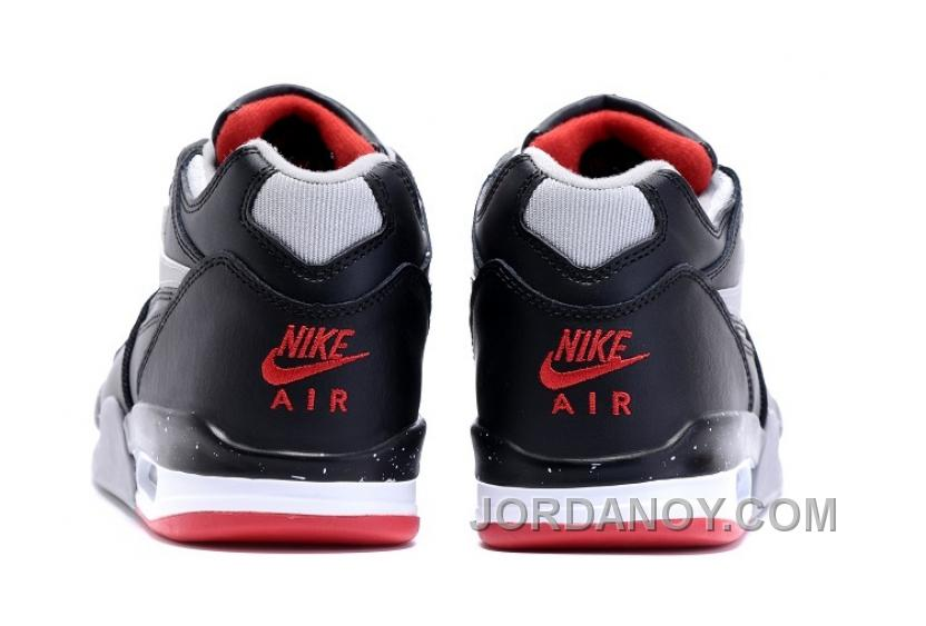 """Nike Air Flight '89 """"Bred"""" BlackCement Grey Fire Red White Shoes For Sale"""
