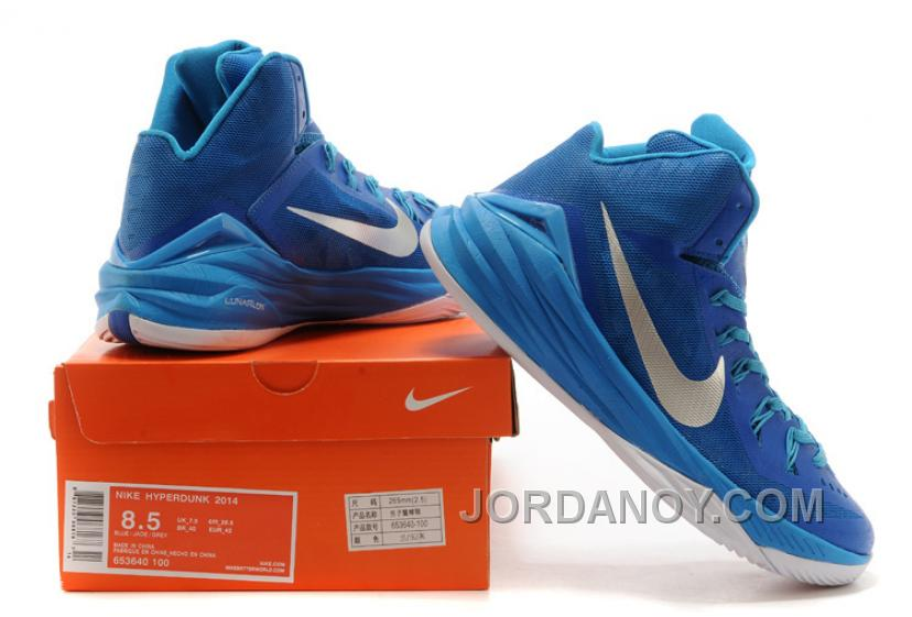 "finest selection 6d1a1 cd355 Super Deals Nike Hyperdunk 2014 ""Game Royal"" Blue Hero Metallic Silver-White"