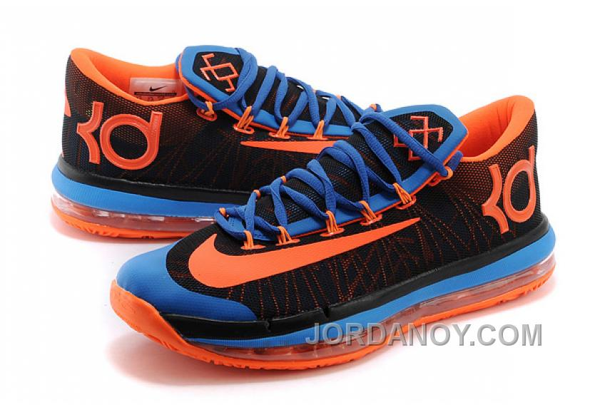 finest selection 2141b 27df9 Online Nike KD 6 VI Elite Black Royal Blue-Team Orange For Sale