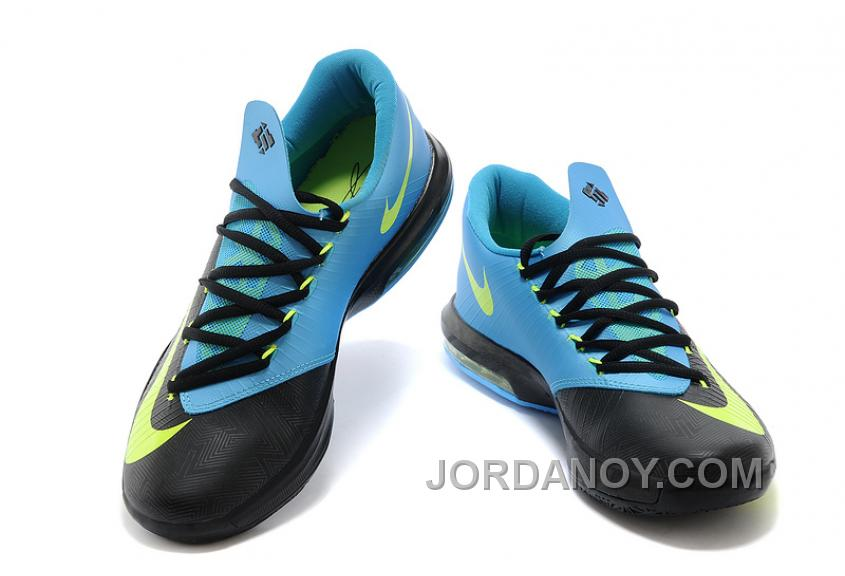 "2a3b6b4bf23c For Sale Nike Kevin Durant KD 6 VI ""Away II"" Black Volt-Vivid Blue ..."