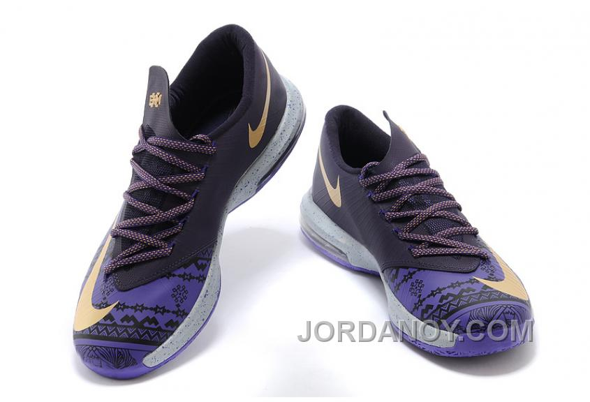 "sports shoes 4e9c6 5a5f0 Discount Nike Kevin Durant KD 6 VI ""BHM"" Purple Venom Metallic Gold-"