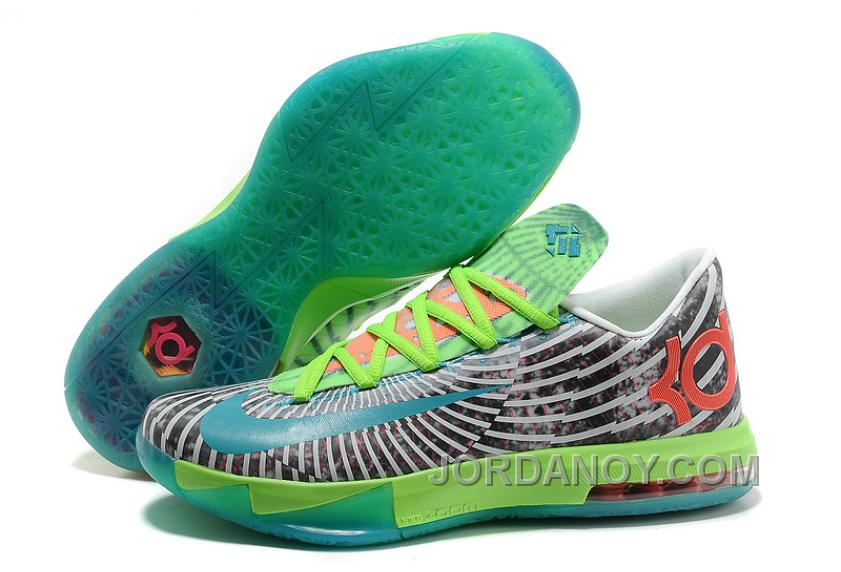 "For Sale Nike Kevin Durant KD 6 VI Supreme ""DC Preheat"" Gamma Blue/Dusty Grey-Flash Lime"