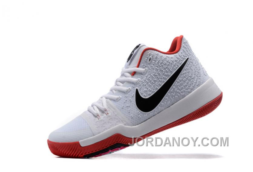 premium selection 1862a ea72f Nike Kyrie 3 Mens BasketBall Shoes White Red Cheap To Buy Pc3Zm ...