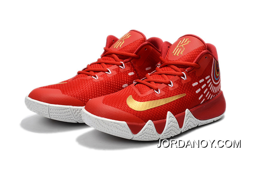 huge selection of fa1a3 2b643 Nike Kyrie 4 Red White/Gold Best