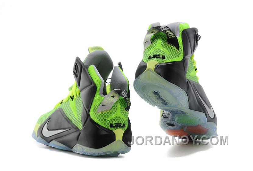 For Sale Nike LeBron 12 Neon Green/Black-Silver