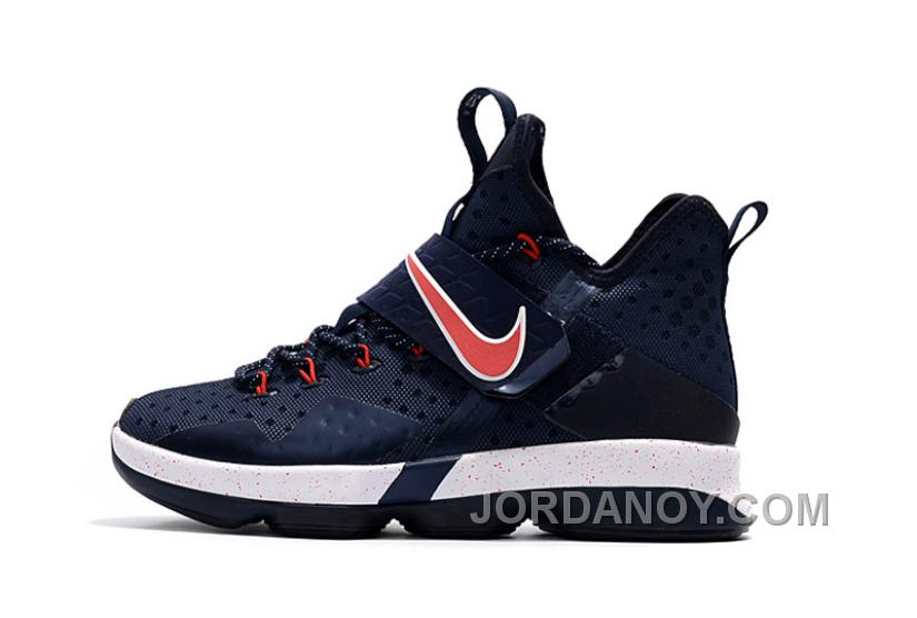low priced 76943 4b0f7 Nike LeBron 14 SBR Navy Blue Red Online