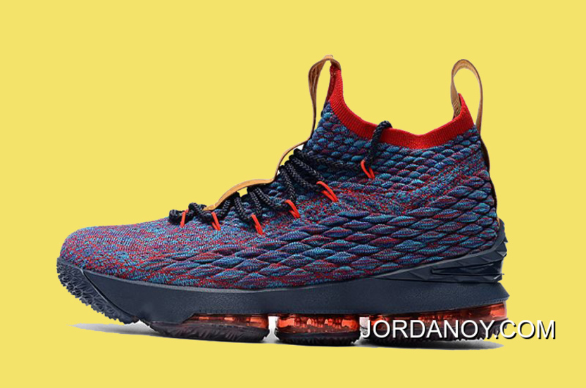 784718d20ff New Release Nike LeBron 15  New Heights  Navy Blue And Wine Red ...