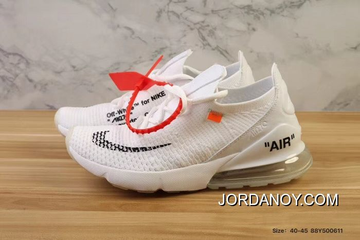 the latest 0f053 db51a Men OFF-WHITE X Nike Air Max 270 Running Shoe SKU 176192-321