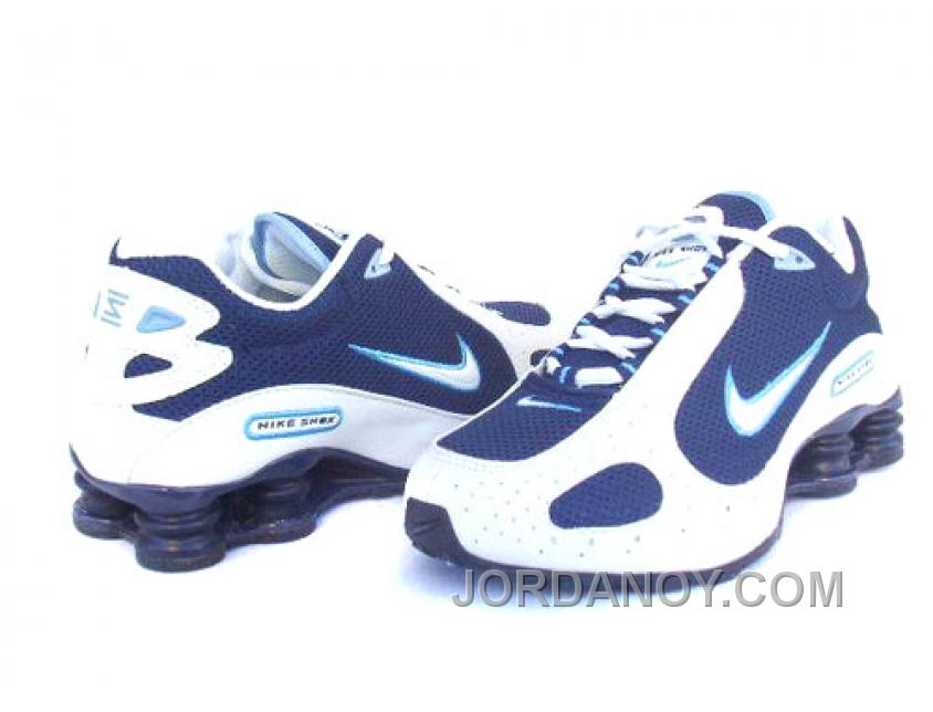 info for 9b5d1 cff02 Men's Nike Shox Monster Shoes White/Navy Online