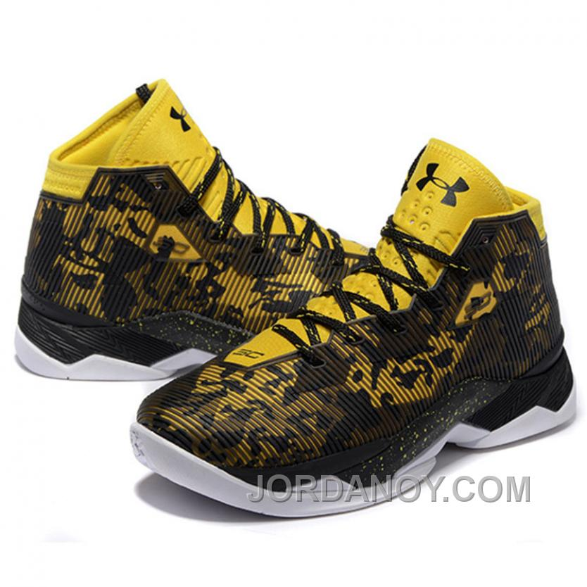 hot sale online 89f4a 5aac1 Hot Now Under Armour Stephen Curry 2.5 Black Yellow Basketball Shoes