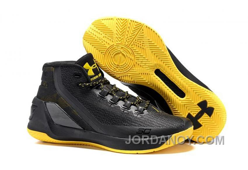 pretty nice 95129 9ae48 Under Armour Stephen Curry 3 Shoes Black Yellow Free Shipping