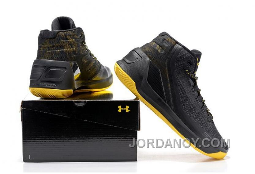 pretty nice 638d4 11896 Under Armour Stephen Curry 3 Shoes Black Yellow Free Shipping