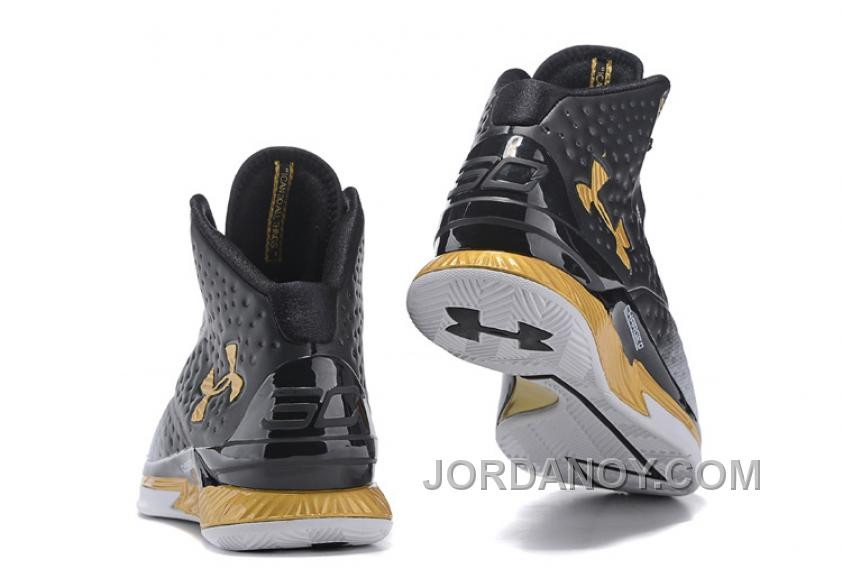 """26cabd83795ac Under Armour UA Curry One """"MVP"""" White/Black-Gold Shoes For Sale Top ..."""