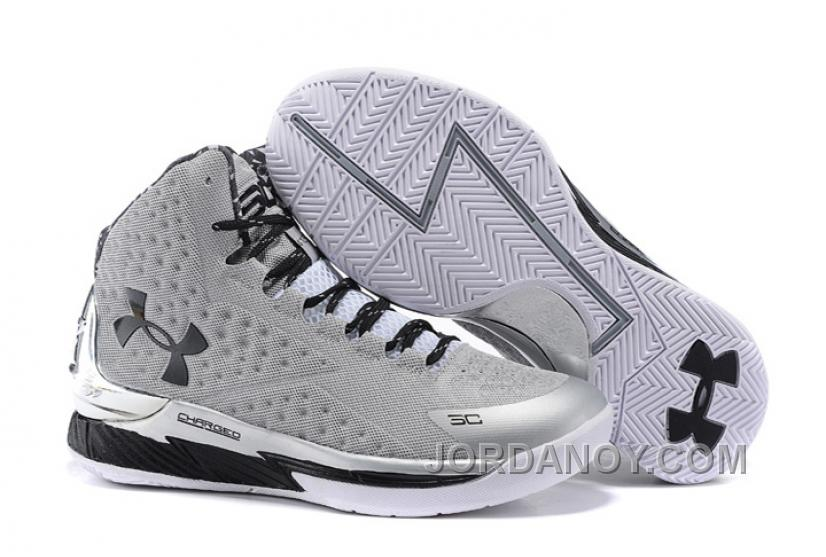 "For Sale Under Armour UA Curry One ""BHM"" Silver/Black-White Shoes"