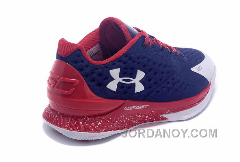 674600cad01 Free Shipping Womens Under Armour Curry One Low Purple Red White ...